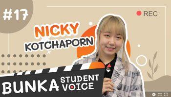 Student voice Bunka 2021 Nicky